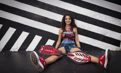 Quinceanera graffiti photo shoot