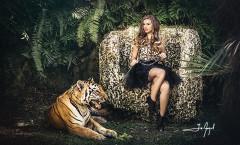 Quinceanera tiger photoshoot Secret Garden Miami